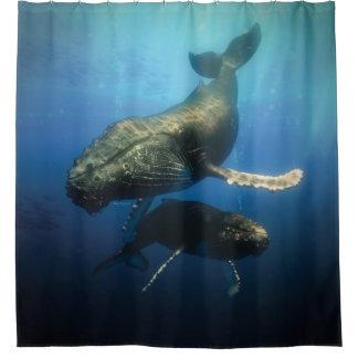 Cortina Para Chuveiro Baleias azuis