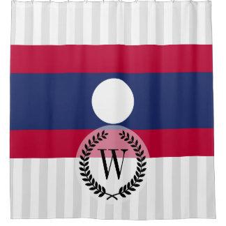 Cortina Para Chuveiro Bandeira de Laos