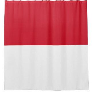 Cortina Para Chuveiro Bandeira de Monaco