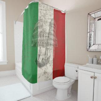 Cortina Para Chuveiro Bandeira e símbolos de Italia ID157