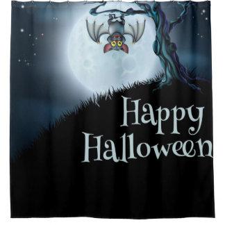 Cortina Para Chuveiro Bastão de vampiro pequeno feliz do Dia das Bruxas