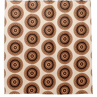 Cortina Para Chuveiro Brown Textured em volta da mandala (o impressão do