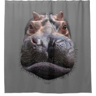 Cortina Para Chuveiro Cabeça do hipopótamo
