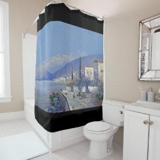 Cortina Para Chuveiro Capri Italia abriga a cortina de chá da ilha das