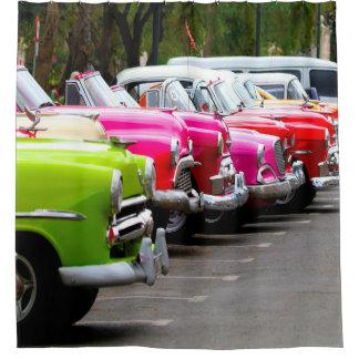 Cortina Para Chuveiro Carros clássicos de Cuba