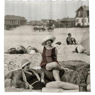 Cortina Para Chuveiro CENA da PRAIA do VINTAGE - 1920
