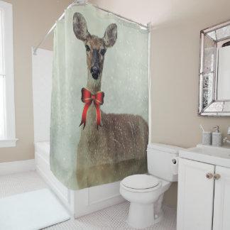 Cortina Para Chuveiro Cervos do Natal