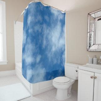 Cortina Para Chuveiro Céu azul com foto das nuvens