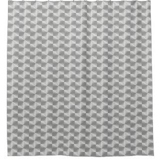 Cortina Para Chuveiro Chá moderno geométrico do metal de prata do cromo