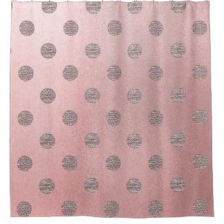 Cortina Para Chuveiro Chique moderno das bolinhas Glam cor-de-rosa do