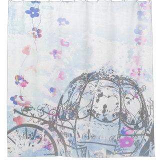 Cortina Para Chuveiro Cinderella inspirou a cortina de chá da carruagem