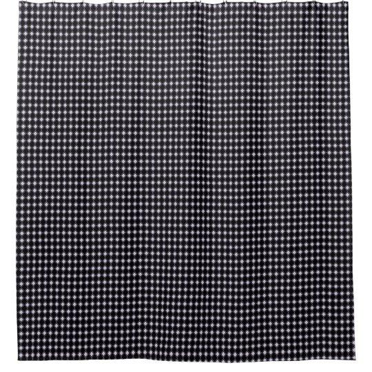 Cortina Para Chuveiro Classic-Style-Tiny-Diamonds_Black-Bath-Decor
