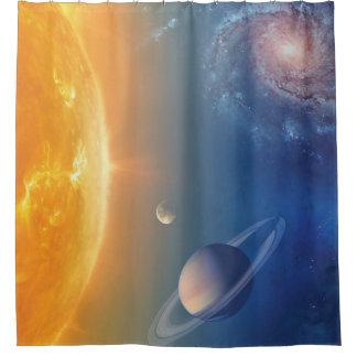 Cortina Para Chuveiro Colagem do espaço do sistema solar da NASA