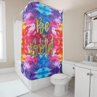 Cortina Para Chuveiro Colorido Vibrantly seja cortina de chá corajosa