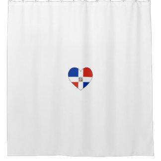 Cortina Para Chuveiro Coração da bandeira da República Dominicana
