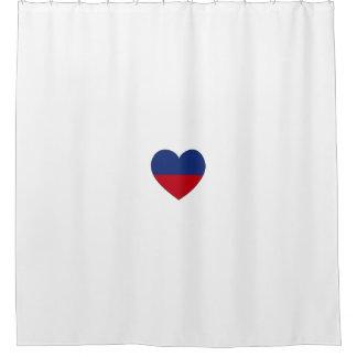 Cortina Para Chuveiro Coração da bandeira de Haiti