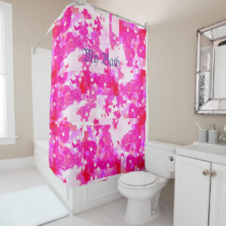 Cortina Para Chuveiro Cortina cor-de-rosa do banho