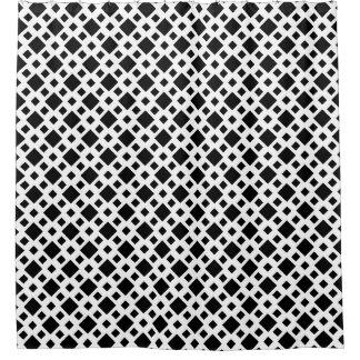 Cortina Para Chuveiro Cortina de chá branca preta quadrada do diamante