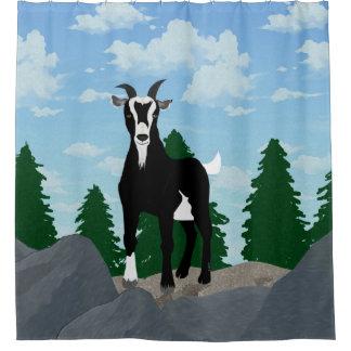 Cortina Para Chuveiro Cortina de chá da cabra de Billy