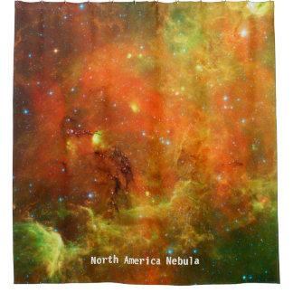 Cortina Para Chuveiro Cortina de chá da nebulosa de America do Norte