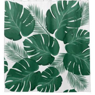 Cortina Para Chuveiro Cortina de chá das folhas de palmeira