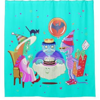 Cortina Para Chuveiro Cortina de chá de Frankie do feliz aniversario