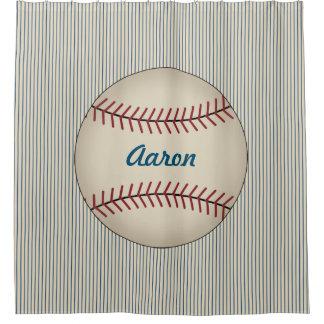 Cortina Para Chuveiro Cortina de chá do banheiro do basebol dos meninos