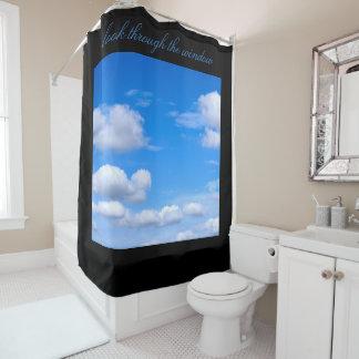 Cortina Para Chuveiro Cortina de chá do céu azul de Cloudscape