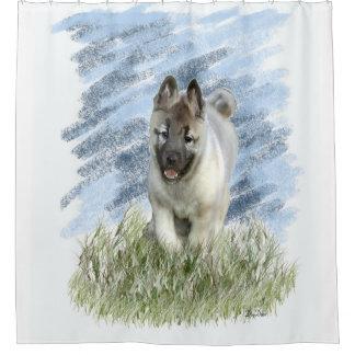 Cortina Para Chuveiro Cortina de chá do filhote de cachorro de Elkhound