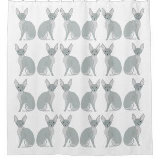Cortina Para Chuveiro Cortina de chá do gato de Sphynx