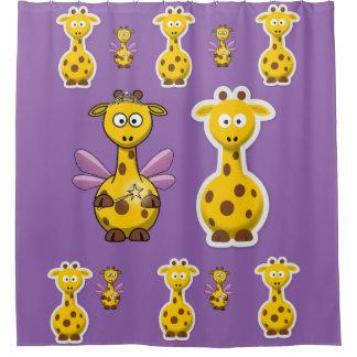 Cortina Para Chuveiro Cortina de chá do girafa para a parte traseira do