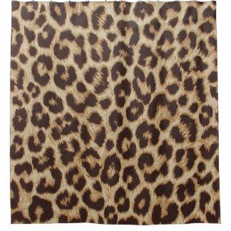 Cortina Para Chuveiro Cortina de chá do impressão do leopardo
