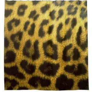 Cortina Para Chuveiro Cortina de chá do leopardo