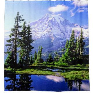 Cortina Para Chuveiro Cortina de chá do parque nacional do Mt Raineer