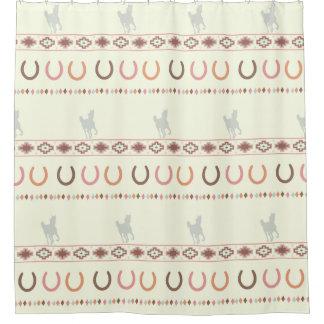 Cortina Para Chuveiro cortina de chá eqüino do tribo