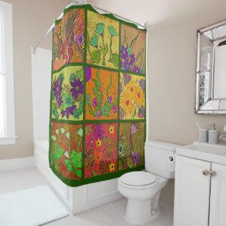 Cortina Para Chuveiro cortina de chá floral dos retalhos