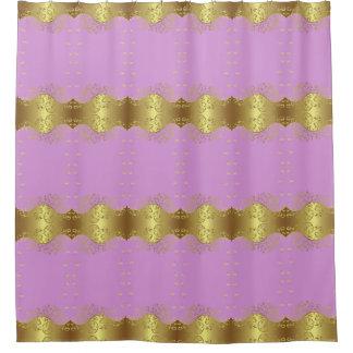 Cortina Para Chuveiro Cortina de chá--Redemoinhos & rosa do ouro