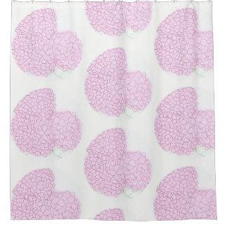 Cortina Para Chuveiro Cortinas de chá cor-de-rosa brilhantes do