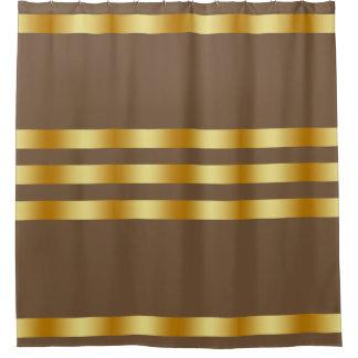 Cortina Para Chuveiro Costume personalizado do ouro da cor sólida crachá