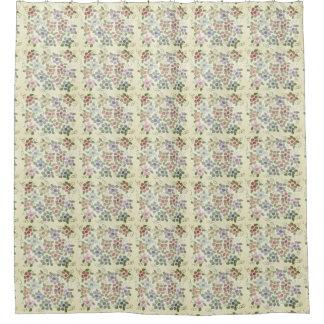 Cortina Para Chuveiro Creme do Victorian com impressão floral