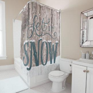 Cortina Para Chuveiro Deixais lhe para nevar cortina do banheiro do chá