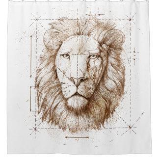 Cortina Para Chuveiro Desenho do leão