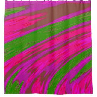 Cortina Para Chuveiro Design cor-de-rosa brilhante do abstrato da cor