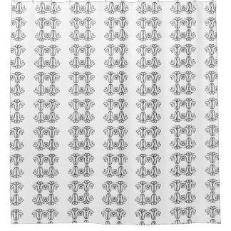 Cortina Para Chuveiro Design preto e branco