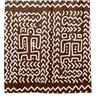 Cortina Para Chuveiro Design primitivo tribal de Brown