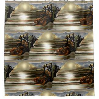 Cortina Para Chuveiro Elevação de Sun na arte abstracta do sudoeste do
