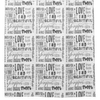 Cortina Para Chuveiro Espiritual cristão das citações da bíblia do amor