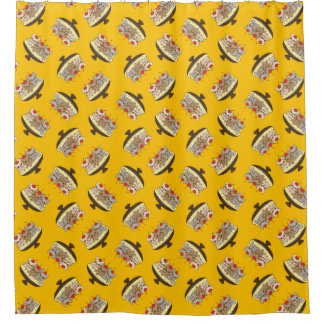 Cortina Para Chuveiro Estes Frenchies querem ser sua separação de banana