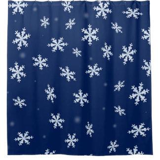 Cortina Para Chuveiro Flocos de neve