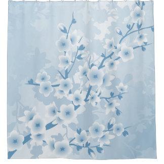 Cortina Para Chuveiro Flores azuis das flores de cerejeira clássicas
